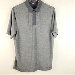 Lululemon Gray and Black Polo Collar Shirt
